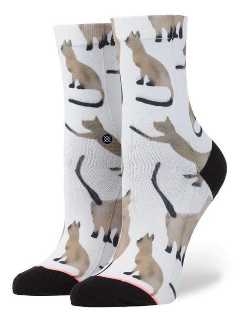 Stance Girls Gato Crew Socks - Cat Print L