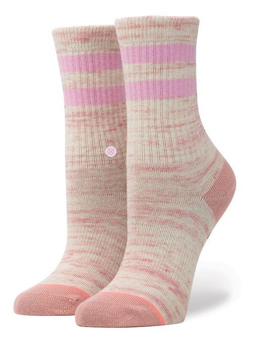 Stance Girls Stripe Crew Socks - Pink L