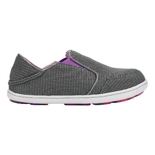 Olukai Nohea Mesh Girls Sandals Shoe - Dark Shadow/Dahlia 10C