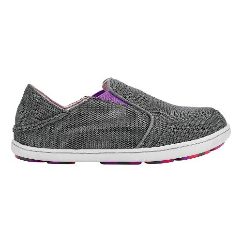 Olukai Nohea Mesh Girls Sandals Shoe - Dark Shadow/Dahlia 11C