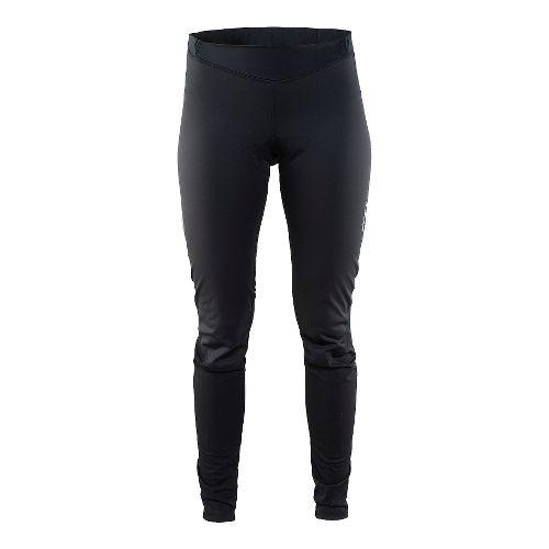 Womens Craft Thermal Wind Tights & Leggings Pants - Black XS