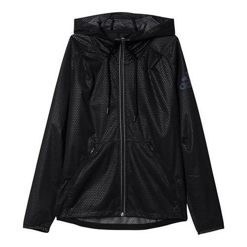 Womens Adidas Climastorm Rain Jackets - Black/Clear S