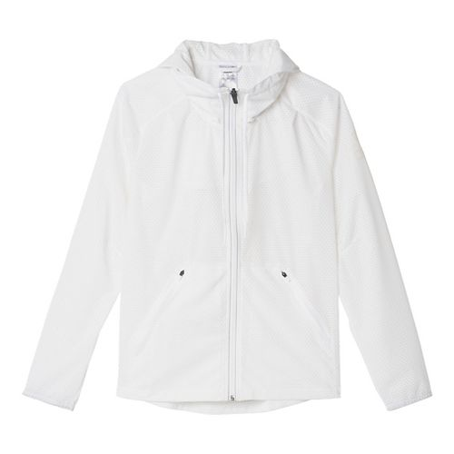 Womens Adidas Climastorm Rain Jackets - White/Clear M