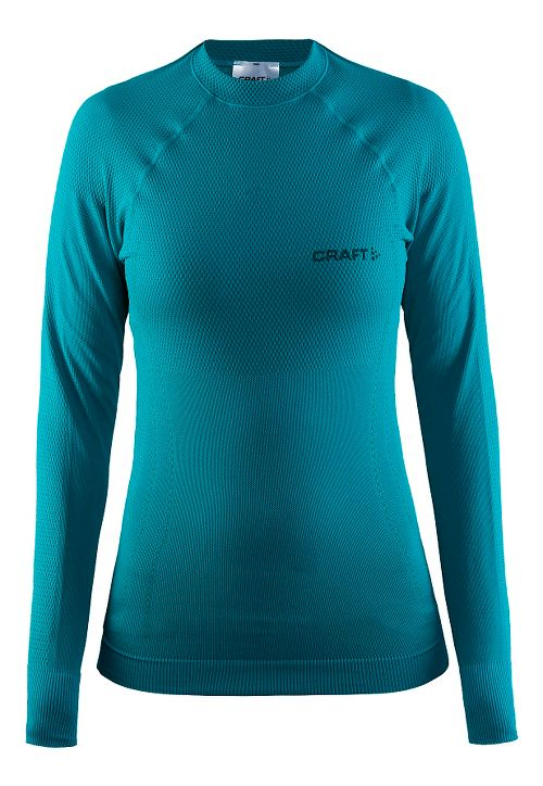 Womens Craft Warm Crewneck Long Sleeve Technical Tops - Gale S