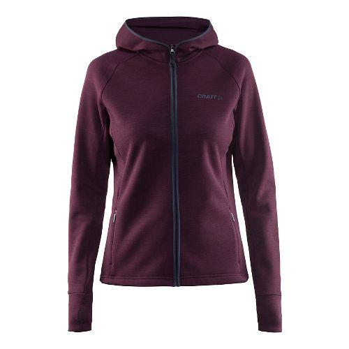Womens Craft Warm Half-Zips & Hoodies Technical Tops - Space M