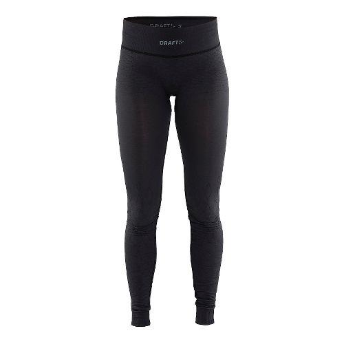 Womens Craft Wool Comfort Tights & Leggings Pants - Black L