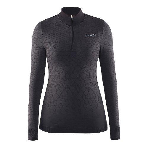 Womens Craft Wool Comfort Half-Zips & Hoodies Technical Tops - Black M