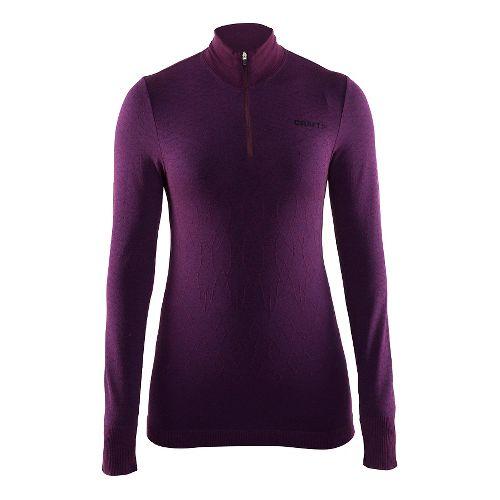 Womens Craft Wool Comfort Half-Zips & Hoodies Technical Tops - Space L