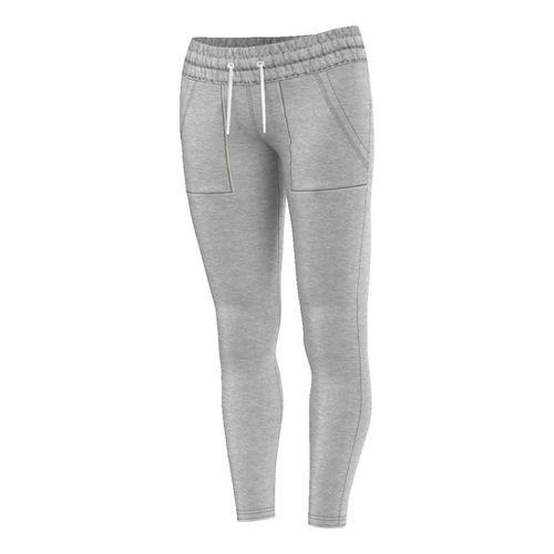 Womens Adidas French Terry Legging Tights & Leggings Pants - Medium Grey Heather M