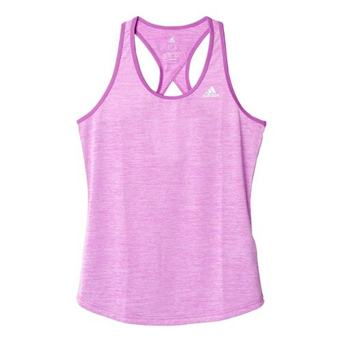Womens Adidas Keyhole Sleeveless & Tank Tops Technical Tops - Shock Purple/Silver XL