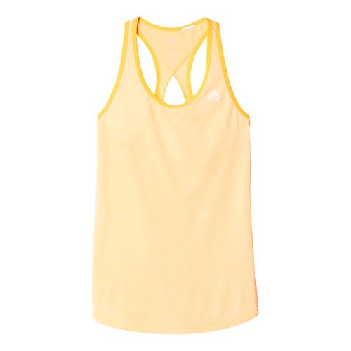 Womens Adidas Keyhole Sleeveless & Tank Tops Technical Tops - Solar Gold/Silver S