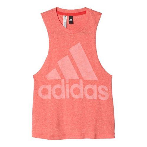 Womens Adidas Logo Tee Sleeveless & Tank Tops Technical Tops - Joy/Ray Red S
