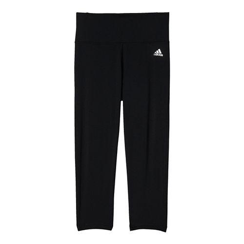 Womens Adidas Performer High-Rise 3/4 Tights & Leggings Pants - Black/Silver S