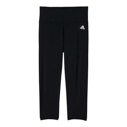 Womens Adidas Performer High-Rise 3/4 Tights & Leggings Pants - Black/Silver XL