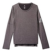 Womens Adidas Performer Cover-Up Long Sleeve Technical Tops