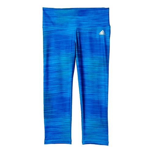 Womens Adidas Performer Mid-Rise 3/4 Tights & Leggings Pants - Bold Blue/Silver S