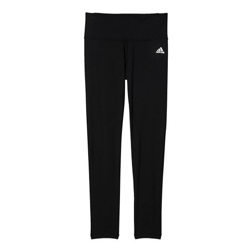 Womens Adidas Performer Mid-Rise Tights & Leggings Pants - Black/Silver L