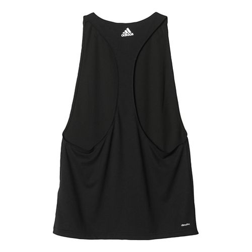 Womens Adidas Performer Sleeveless & Tank Tops Technical Tops - Black/Silver XL