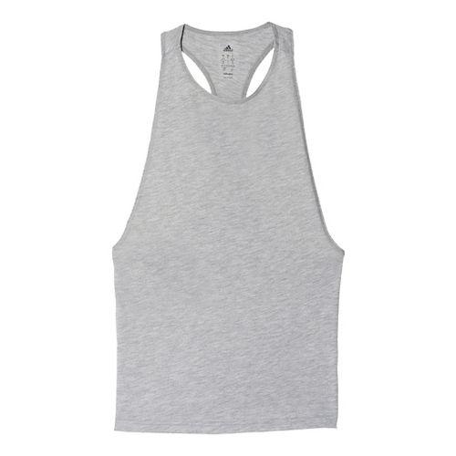 Womens Adidas Performer Sleeveless & Tank Tops Technical Tops - Medium Grey Heather XL