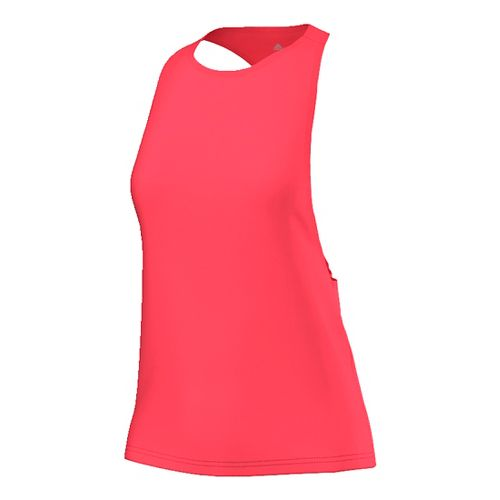 Womens Adidas Performer Sleeveless & Tank Tops Technical Tops - Shock Red/Silver L