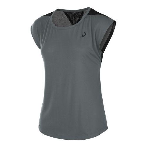 Womens ASICS Novel-Tee Short Sleeve Technical Tops - Shark S