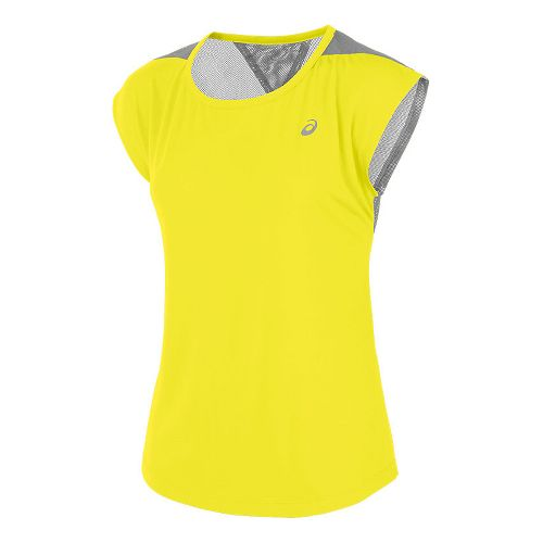 Womens ASICS Novel-Tee Short Sleeve Technical Tops - Blazing Yellow L