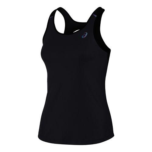 Womens ASICS Open Back Sleeveless & Tank Tops Technical Tops - Black L