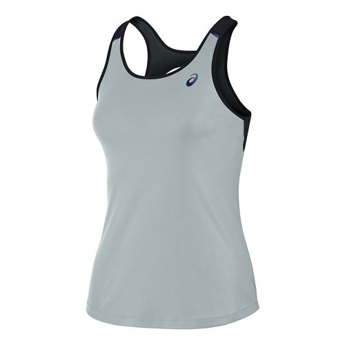 Womens ASICS Open Back Sleeveless & Tank Tops Technical Tops - Midgrey XL