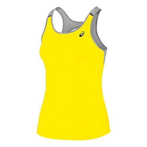 Womens ASICS Open Back Sleeveless & Tank Tops Technical Tops - Blazing Yellow XL