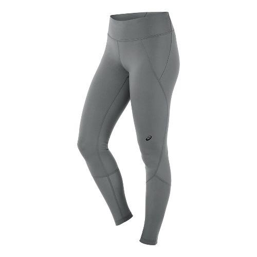 Womens ASICS Panel Tights & Leggings Pants - Shark M