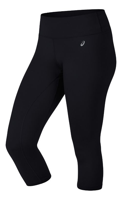 Womens ASICS PR II Capris Pants - Black XS