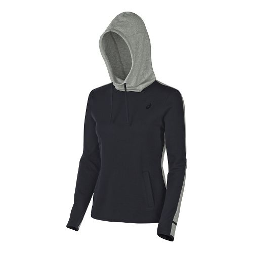 Womens ASICS Pullover Half-Zips & Hoodies Technical Tops - Balance Black L