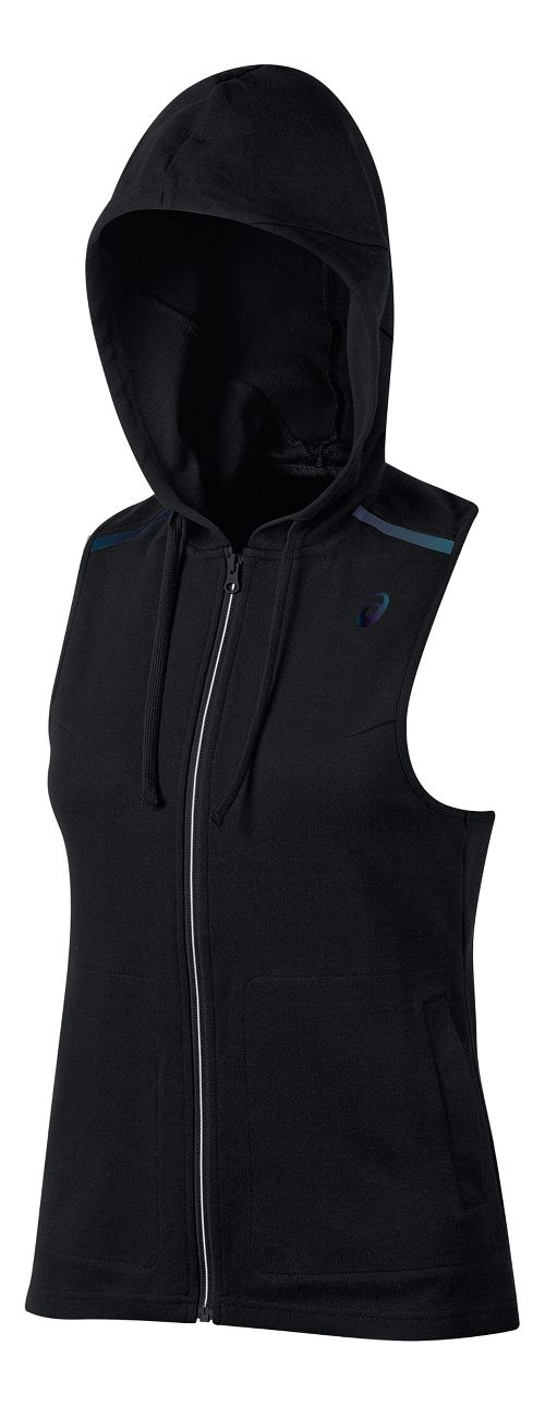 Womens ASICS Racerback Hooded Vest Sleeveless & Tank Tops Technical Tops - Black M