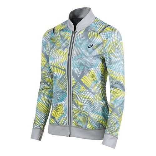 Womens ASICS Reversible Running Jackets - Light Grey/Sea Light S