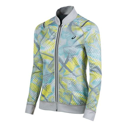 Womens ASICS Reversible Running Jackets - Light Grey/Sea Light XL