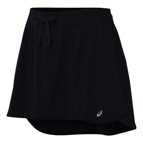 Womens ASICS Skorts Fitness Skirts - Black XS