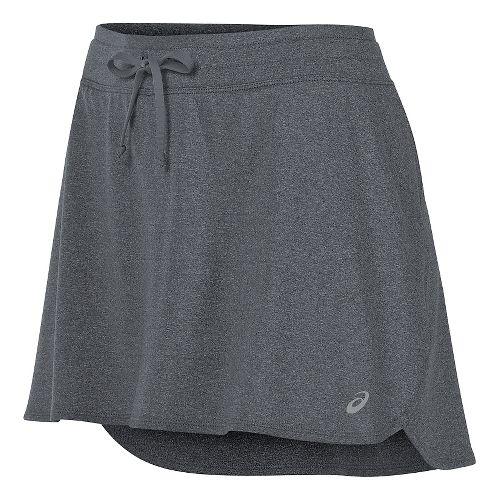 Womens ASICS Skorts Fitness Skirts - Dark Grey Heather L