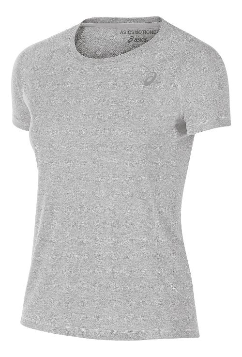 Womens ASICS TM Essential Tee Short Sleeve Technical Tops - Heather Grey S