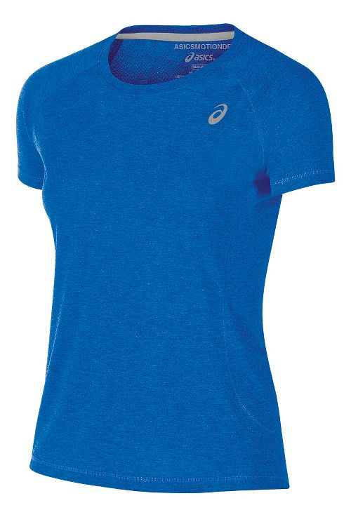 Womens ASICS TM Essential Tee Short Sleeve Technical Tops - Royal XS