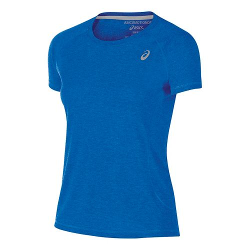 Womens ASICS TM Essential Tee Short Sleeve Technical Tops - Royal M