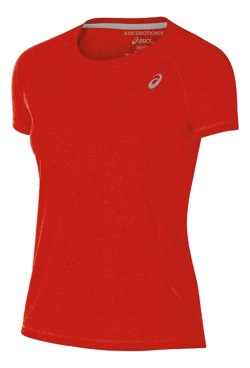 Womens ASICS TM Essential Tee Short Sleeve Technical Tops - Red XL
