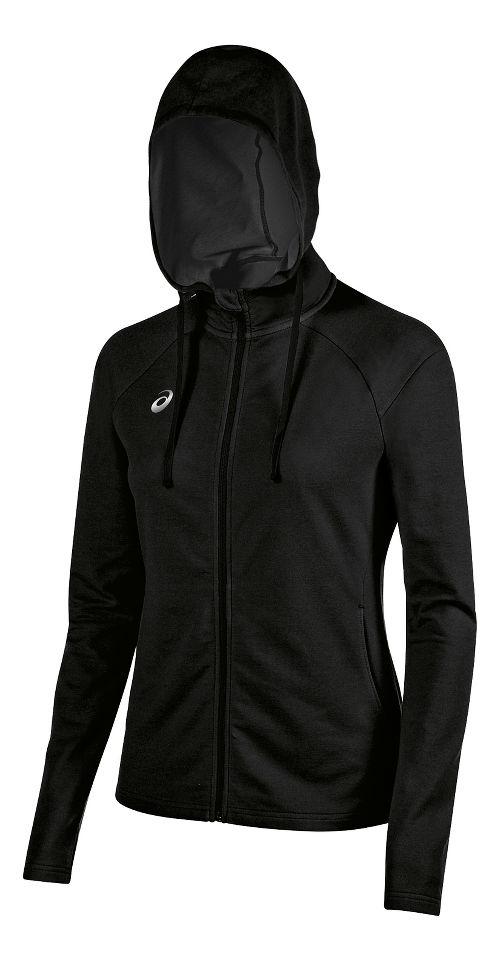 Womens ASICS TM Everyday Running Jackets - Black XS
