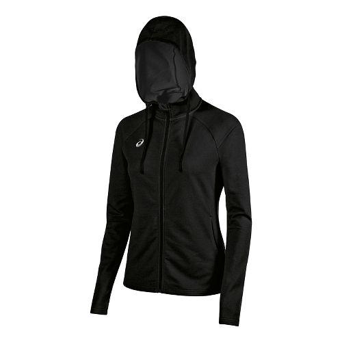 Womens ASICS TM Everyday Running Jackets - Black XL