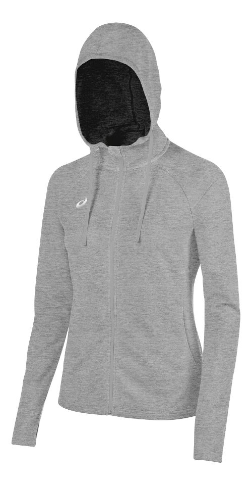 Womens ASICS TM Everyday Running Jackets - Heather Grey XXL