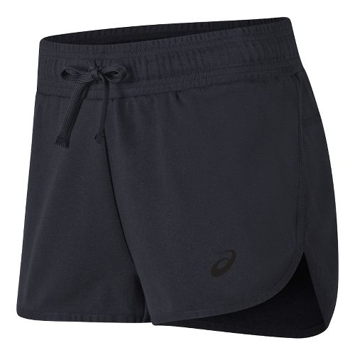 Womens ASICS Knit Unlined Shorts - Black M