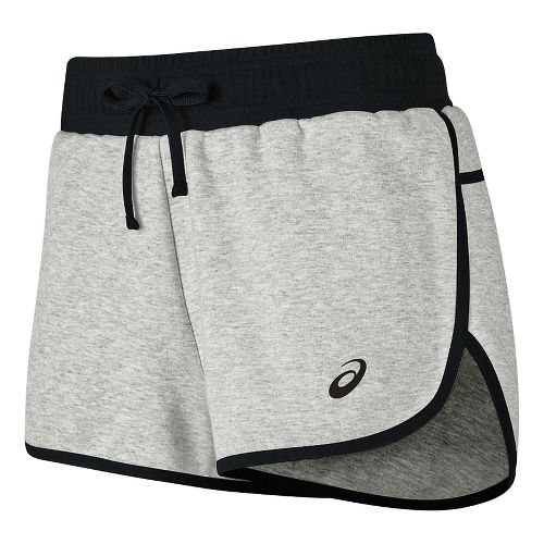 Womens ASICS Knit Unlined Shorts - Light Grey Heather M