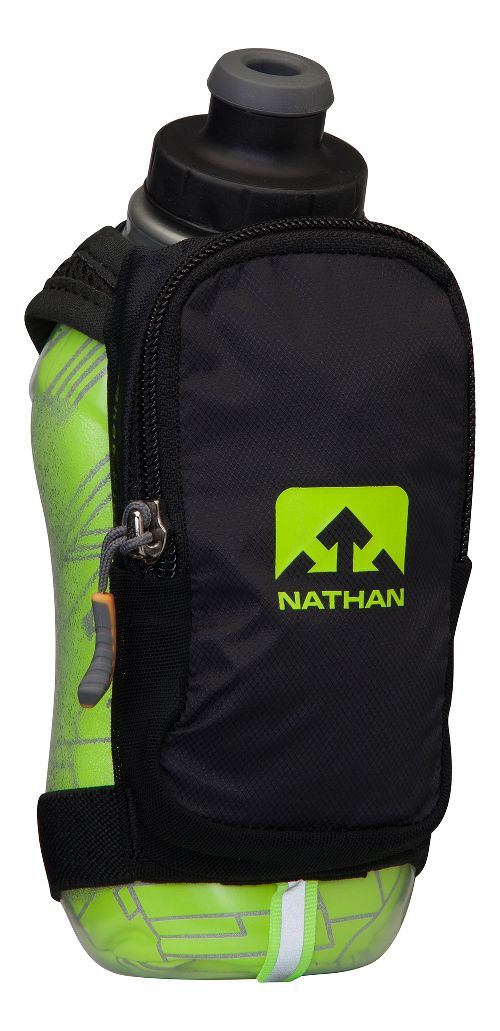 Nathan SpeedShot Plus Insulated 12 ounce Hydration - Black/Safety Yellow