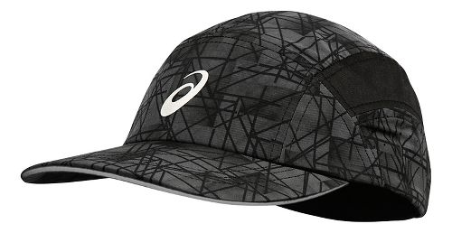 ASICS Fuzex Jockey Cap Headwear - Dark Grey Geo