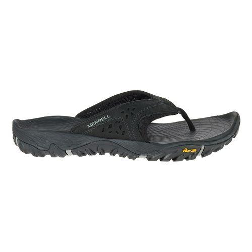 Mens Merrell All Out Blaze Flip Sandals Shoe - Black 13