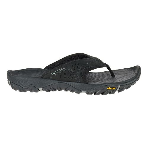 Mens Merrell All Out Blaze Flip Sandals Shoe - Black 7